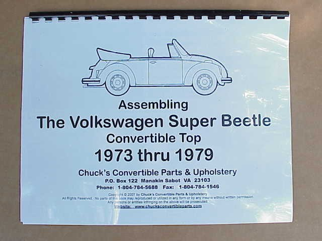 Assembling Super Beetle Convertible Top 1973-79