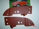 VW CONVERTIBLE BUG Header Bow Plates1968-72 (one pair)