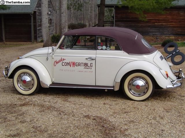 Deluxe Convertible Top Kit  1958-early 60 beetle convertible WITH CANVAS TOP
