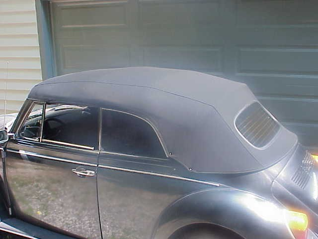 Deluxe Convertible Top Kit WITH CANVAS TOP 1972 Super Beetle CONVERTIBLE