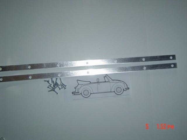 Windshield Post Seal Mounting Aluminum 1950-64 bug convertible
