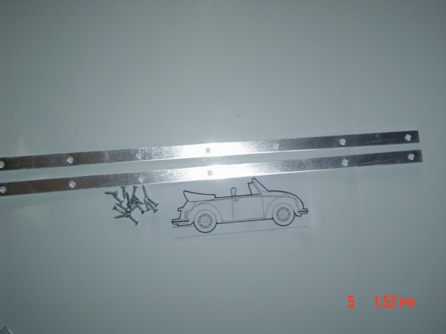 Windshield Post Seal Mounting Aluminum 1973-79 super beetle convertible