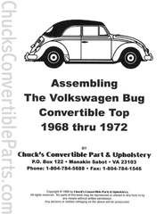 Assembling the Volkswagen Bug Convertible Top 1968-72