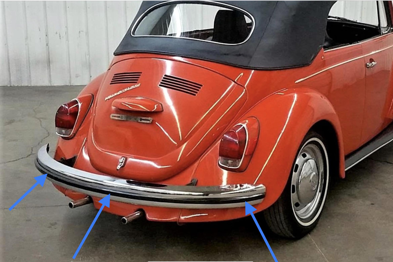 Bumper Impact Strips 1971-73 Super Beetle $62.95 ea