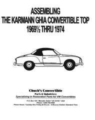 Assembling the Karmann Ghia Convertible Top 69 1/2-74