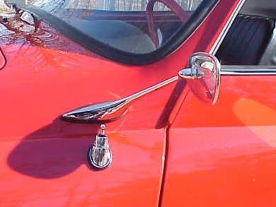 Exterior Goose Neck Mirror KARMANN GHIA 1957-65 convertible