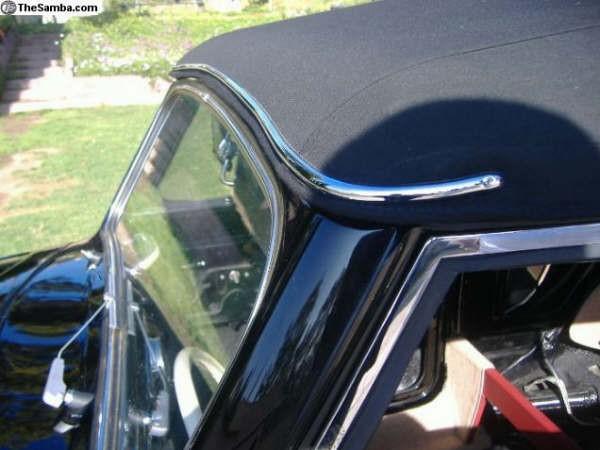Header Bow Deco Chrome 1950-EARLY 60 brass/chrome plated