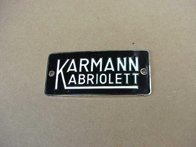 53-60 Karmann Kabriolett Badge