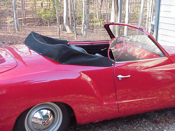 Convertible Top Boot Cover Karmann Ghia 1957-early 69 (plastic window)