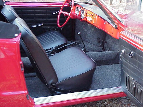 Front & Rear Seat Covers 1969 1/2 -74 Karmann ghia Convertible