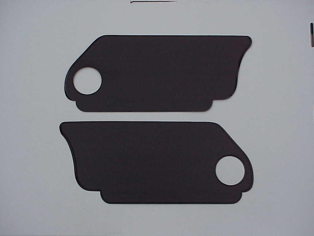 Under Rear Seat kick panels 1963-79 bug convertible