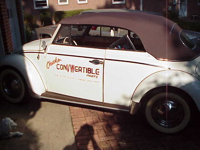 Bug Convertible Top Outer Skin in VINYL (58-60)