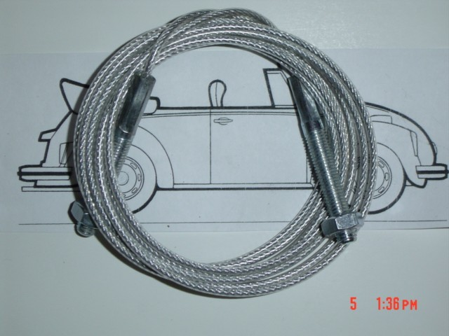 Convertible Top Mounting Cable 1967 1/2- 79 Bug Convertible