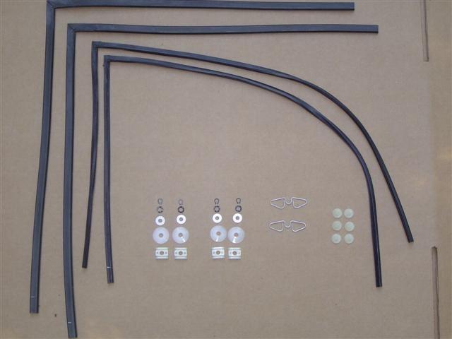 Door & Qtr Window Repair Kit 1965-79 bug convertibles