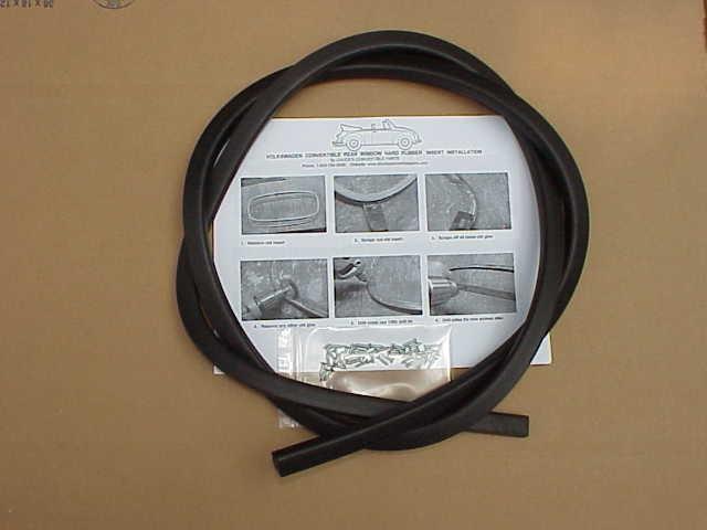 Rear window Tacking Ring 1958-62 BUG CONVERTIBLE + instructions