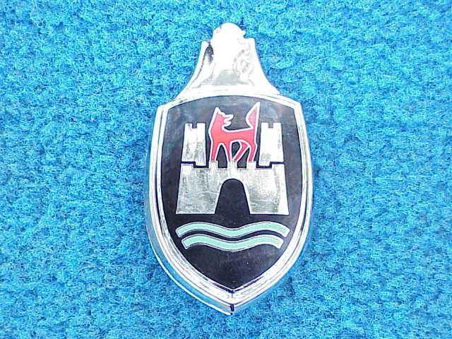 Wolfsburg Crest Hood Emblem with Base 1960-63