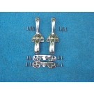 TOP LOCK AND CATCH SET 61-64 BUG CONVERTIBLE HIGH QUALITY!