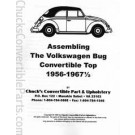Assembling the Volkswagen Bug Convertible Top 1956-mid 67