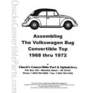 Assembling the Volkswagen Bug Convertible Top 1968-72