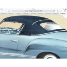 Karmann Ghia Convertible Top Chrome Deco Trim 1958-59